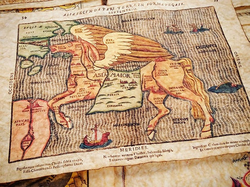 Asia Secunda Pars Terrae in Forma Pegasi, by Heinrich Bunting (1581)