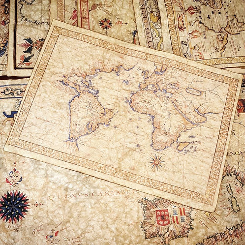 World map by Francesco Ghisolfi, 16th century
