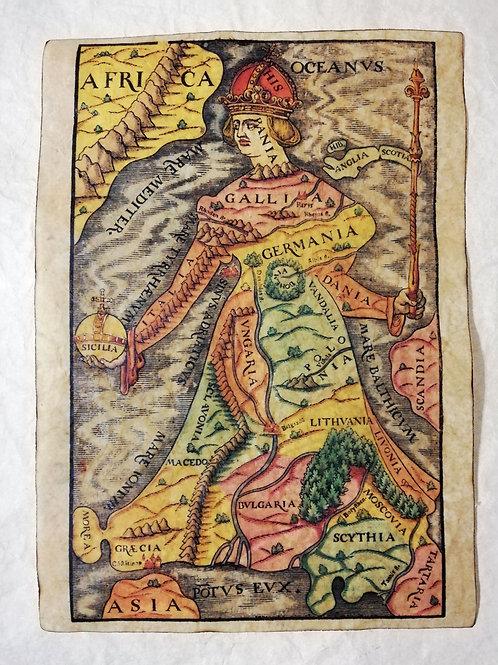 Europa Regina, Sebastian Münster, 1588