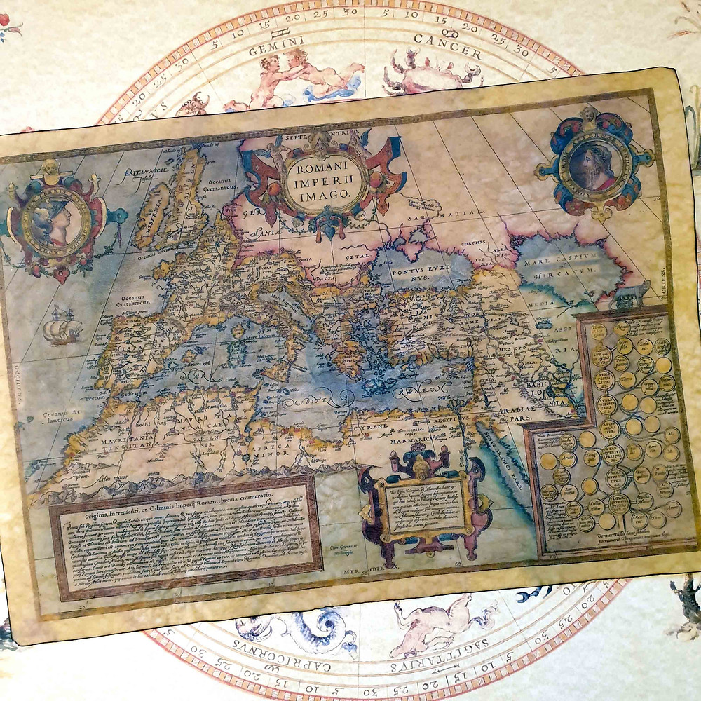 Most popular replica from our 2020 Online Advent Calendar - 16th century Roman Empire Map