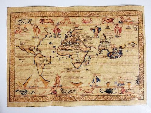 World map by Francesco Ghisolfi, 16th century