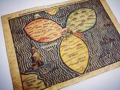 Bunting Clover Leaf Map, 1581.