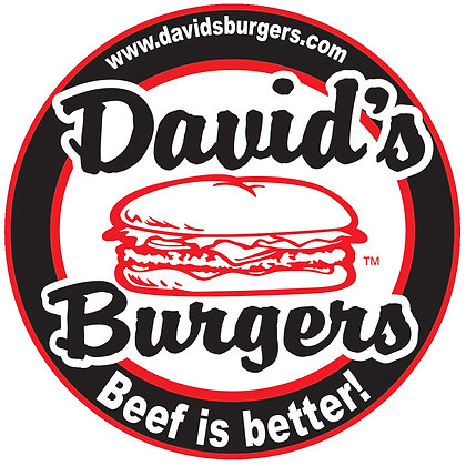 David's Burgers Car Window Sticker