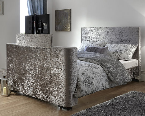 NEWARK Crushed Velvet Electric TV Bedstead