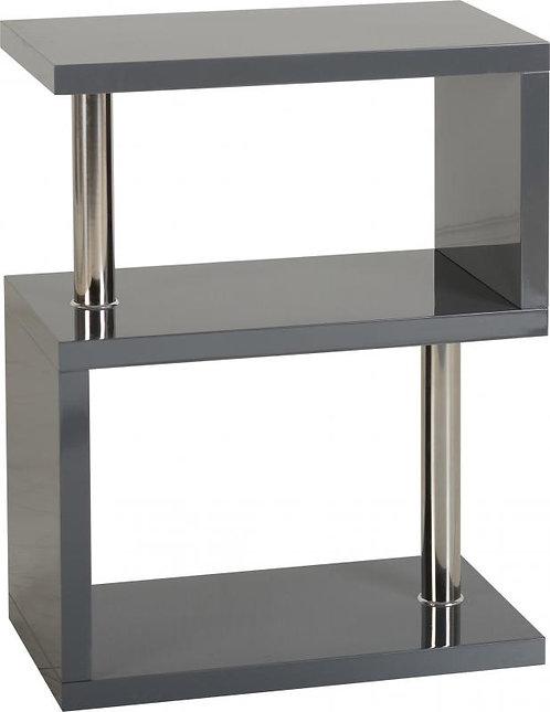 Charisma 3 Shelf Unit in Grey Gloss/Chrome