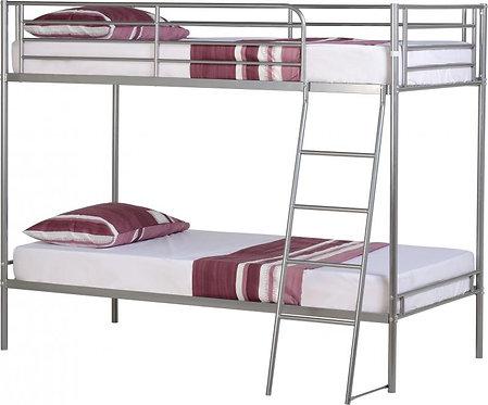 Brandon 3' Bunk Bed in Silver
