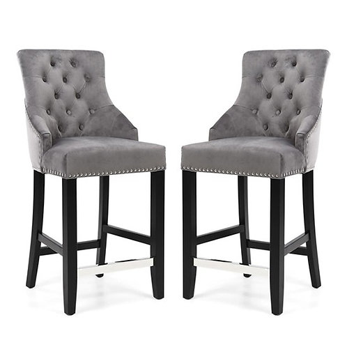 CHANDLER RING BACK BRUSHED VELVET  BAR CHAIR