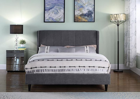 Amelia 5' Bed in Dark Grey Fabric