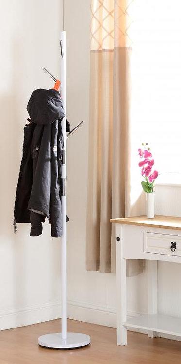 Byron Coat Stand in White Gloss/Chrome