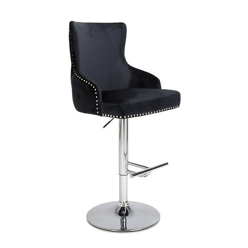 CAIRO BRUSHED VELVET  BAR STOOL