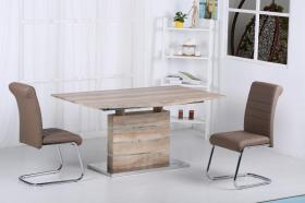 Astra PU Chairs Chrome & Brown