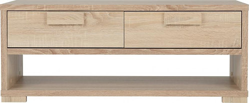 Cambourne 2 Drawer Coffee Table in Sonoma Oak Effect Veneer