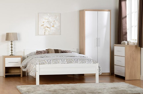 "Amber 4'6"" Bed in White"