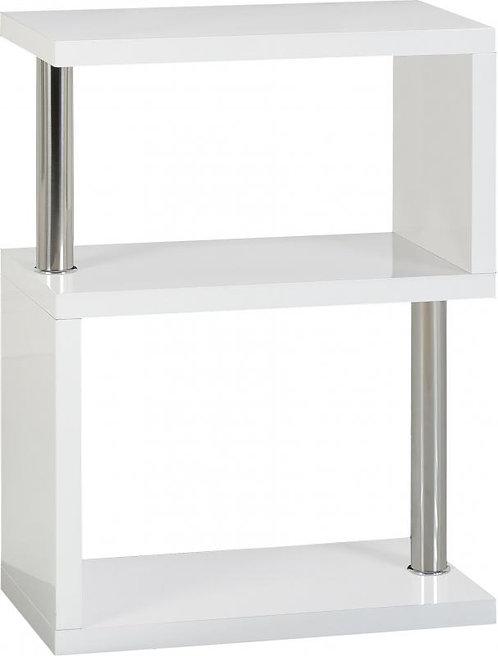 Charisma 3 Shelf Unit in White Gloss/Chrome