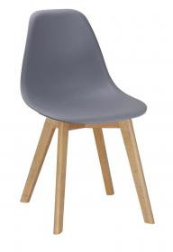 Belgium Plastic (PP) Chairs with Solid Beech Legs