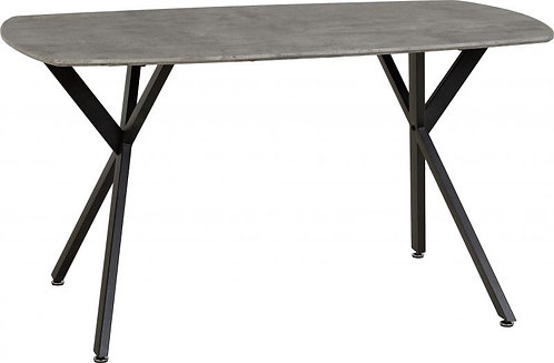 Athens Dining Table in Concrete Effect/Black