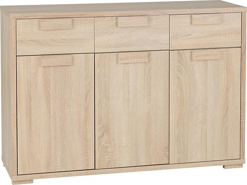 Cambourne 3 Door 3 Drawer Sideboard in Sonoma Oak Effect Veneer