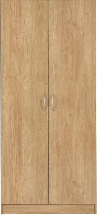 Bellingham 2 Door Wardrobe in Oak Effect Veneer