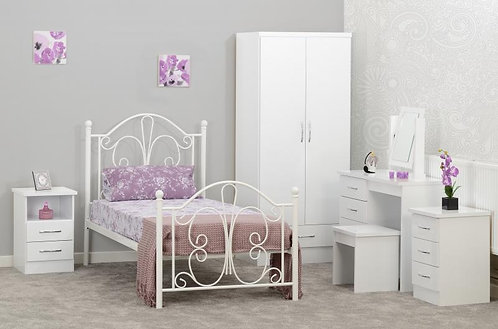 Annabel 3' Bed in White