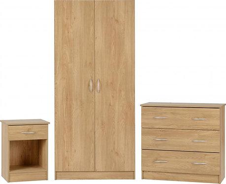 Bellingham Bedroom Set in Oak Effect Veneer