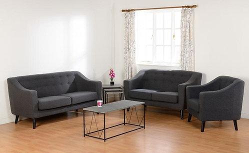 Ashley 2 Seater Sofa in Dark Grey Fabric