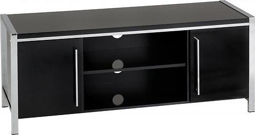Charisma 2 Door TV Unit in Black Gloss/Chrome