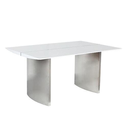 LUNA MEDIUM HIGH GLOSS WHITE DINING TABLE