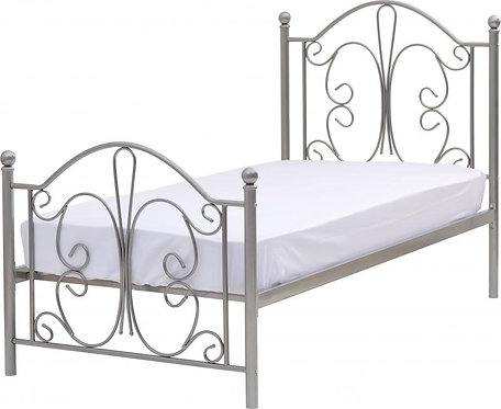 Annabel 3' Bed in Silver