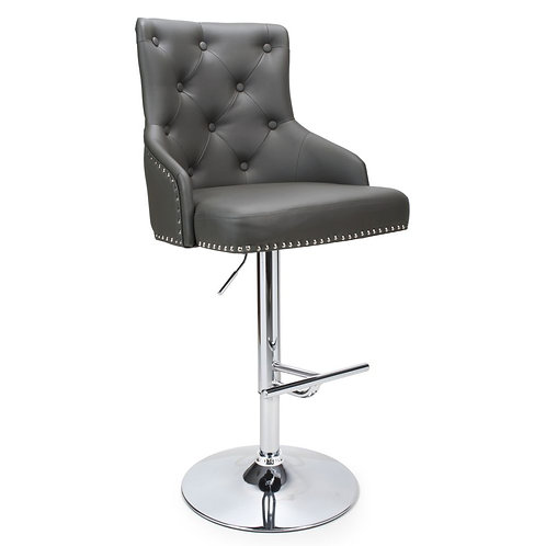 ROCCO LEATHER EFFECT GRAPHITE  BAR STOOL