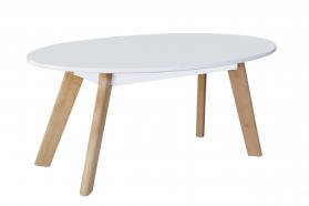 Belgium Oval Coffee Table White