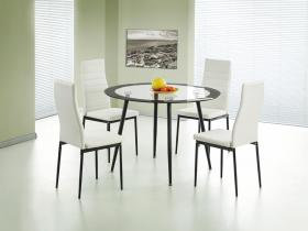Acodia PU Chairs with White PU & Black Frame