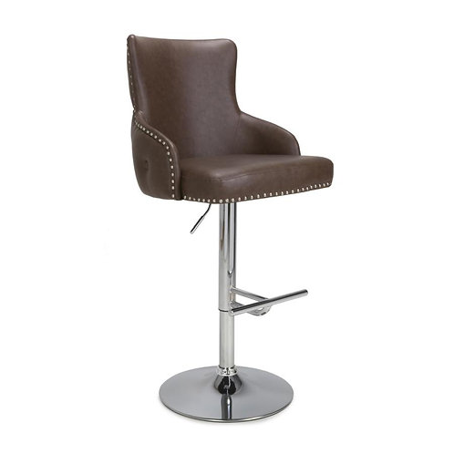 CAIRO LEATHER EFFECT  BAR STOOL