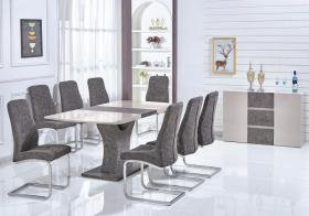 Belarus High Gloss Ext Dining Set 6 Chairs