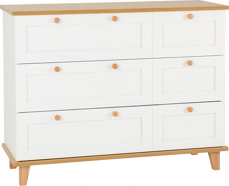 Arcadia *3 Drawer Chest in White/Ash Effect Veneer