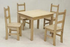 Coba Mexican Dining Set with 4 Chairs