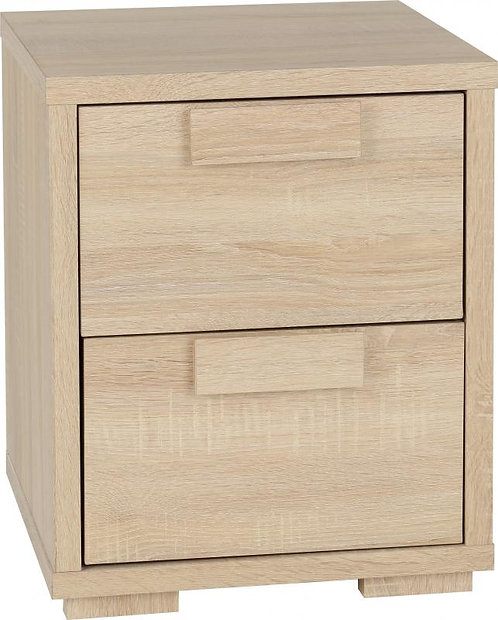 Cambourne 2 Drawer Bedside Chest in Sonoma Oak Effect Veneer