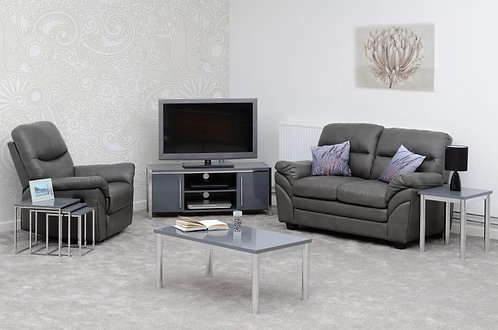 Charisma 2 Door TV Unit in Grey Gloss/Chrome
