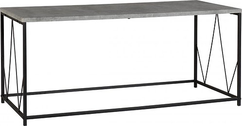 Athens Rectangular Coffee Table in Concrete Effect/Black
