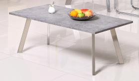 Calipso Coffee Table Concrete with Brushed Stainless Steel Legs