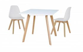 Belgium Small Dining Table  with 4 Belgium Chairs