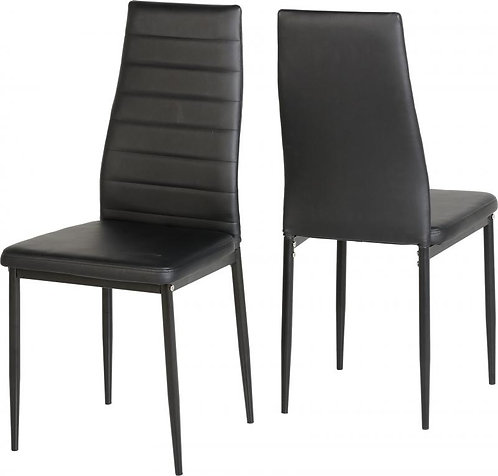Abbey Chair in Black Faux Leather