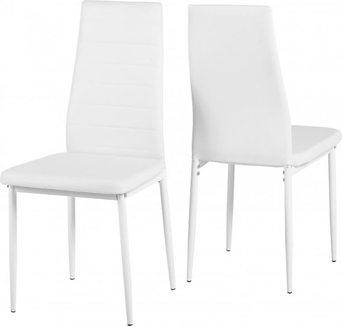 Abbey Chair in White Faux Leather
