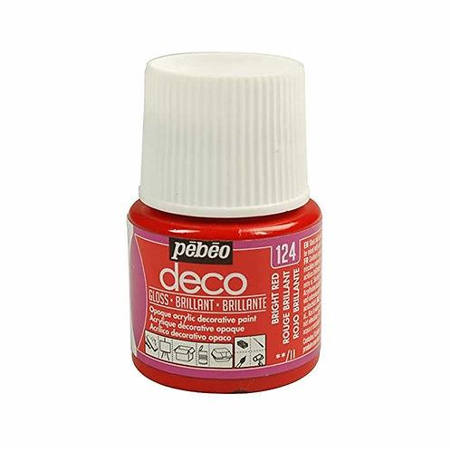 Pébéo Déco - brillant -Rouge n°124