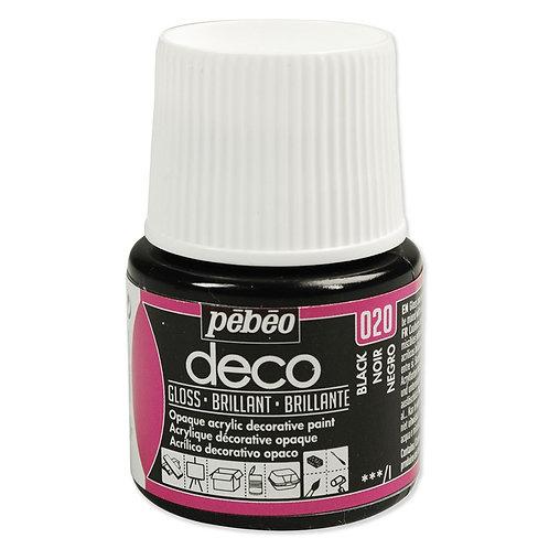 Pébéo Déco - brillant - Noir n°020