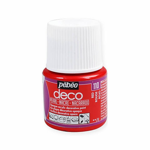 Pébéo Déco - nacré - Rouge n°110