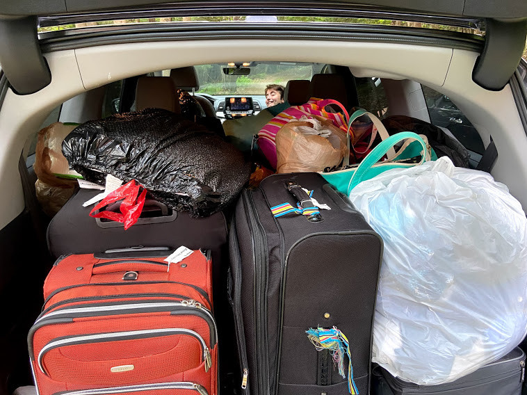 Trunk full of luggage