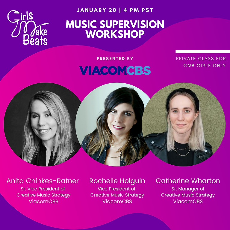 Music Supervision Workshop presented by ViacomCBS