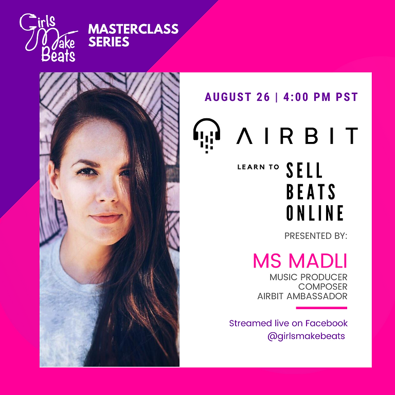 """GMB presents """"Sell Beats Online"""" with Airbit's Ms. Madli"""