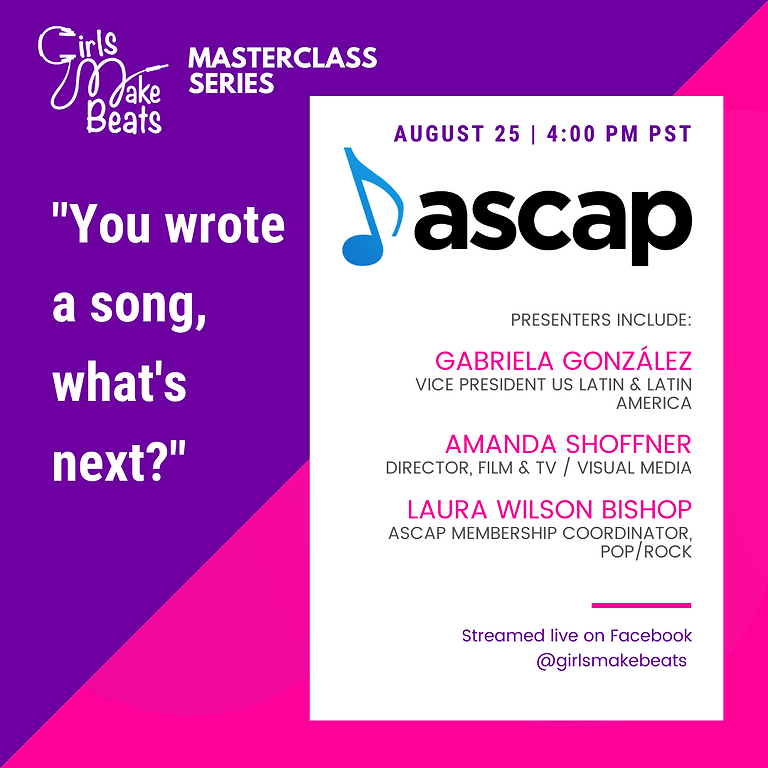 """""""You wrote a song, what's next?"""" with ASCAP"""