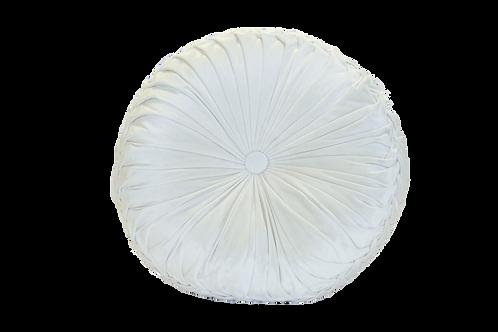 Cream Velvet Round Pillow